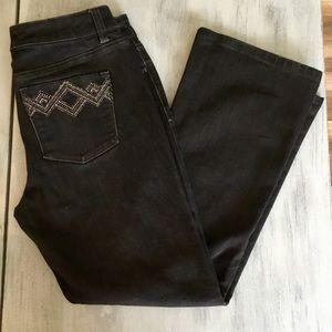 EUC White House Black Market Jeweled Jeans Sz. 4S